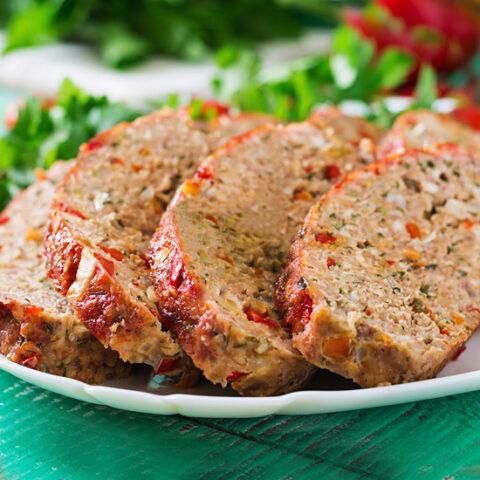 Low Sodium Bison Meatloaf
