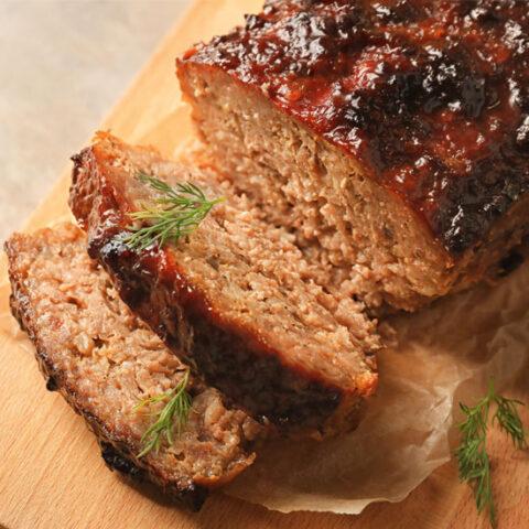 Low Sodium Pork Apple Meatloaf