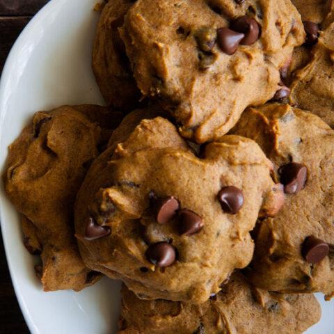Low Sodium Pumpkin Chocolate Chip Cookies