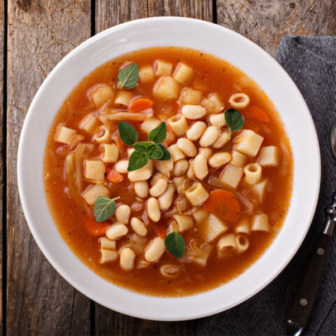 Slow Cooker Low Sodium Minestrone Soup